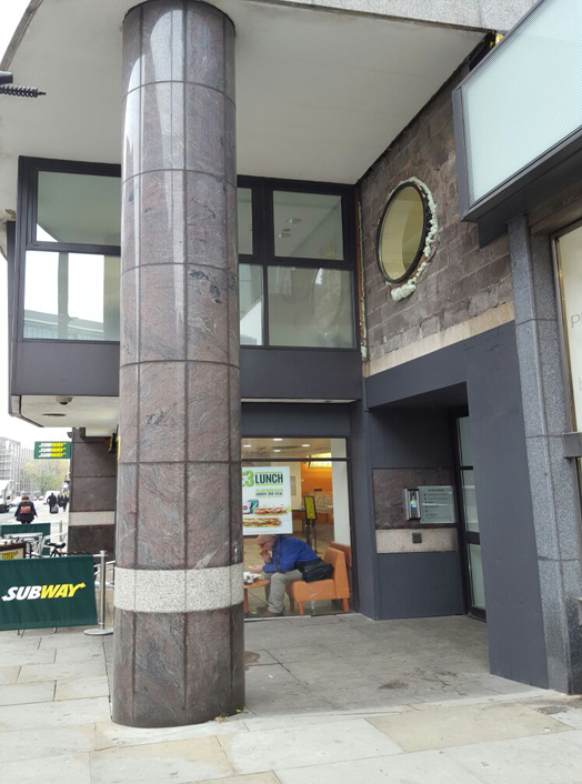 Refurb to Entrance 49 Peter Street, Manchester