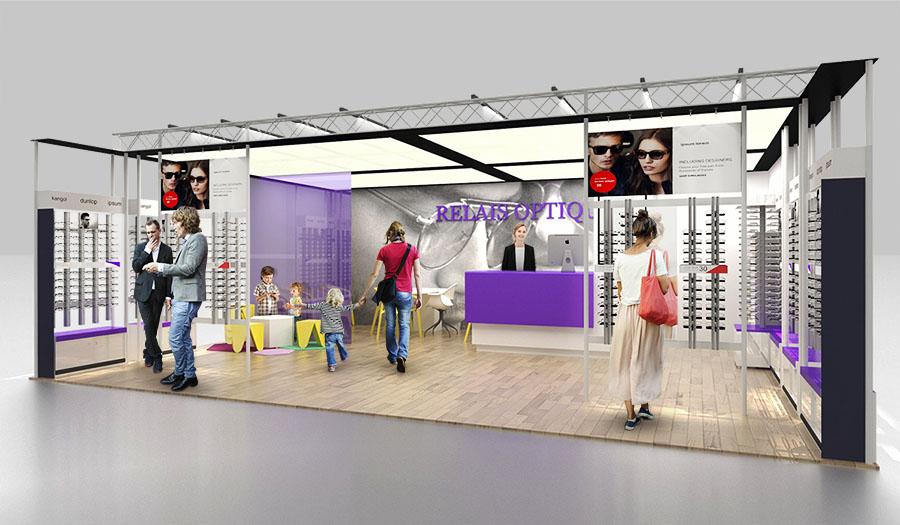 Pop-up Retail Concept for French Company Relais Optique