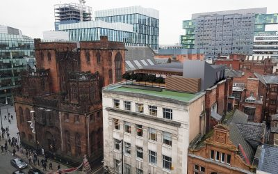 New rooftop offices, Grampian House, Manchester